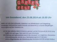 Gartenfest Kleingartenverein Wiederitzsch