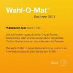 Wahl-O-Mat - Landtagswahlen 2014 Sachsen
