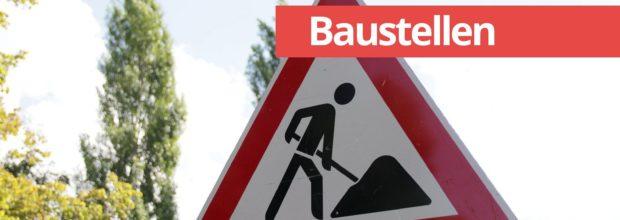 Baustelle Maximilianallee zwischen Messe-Allee und Seehausener Allee wegen Straßenbau