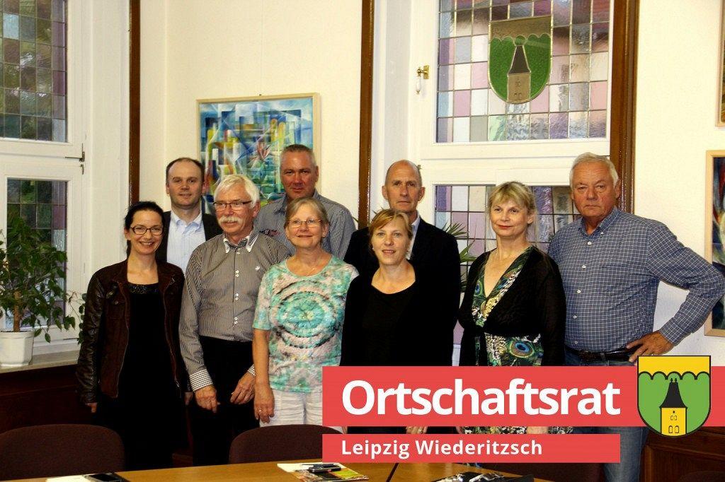 Der frisch konstituierte Ortschaftsrat Wiederitzsch
