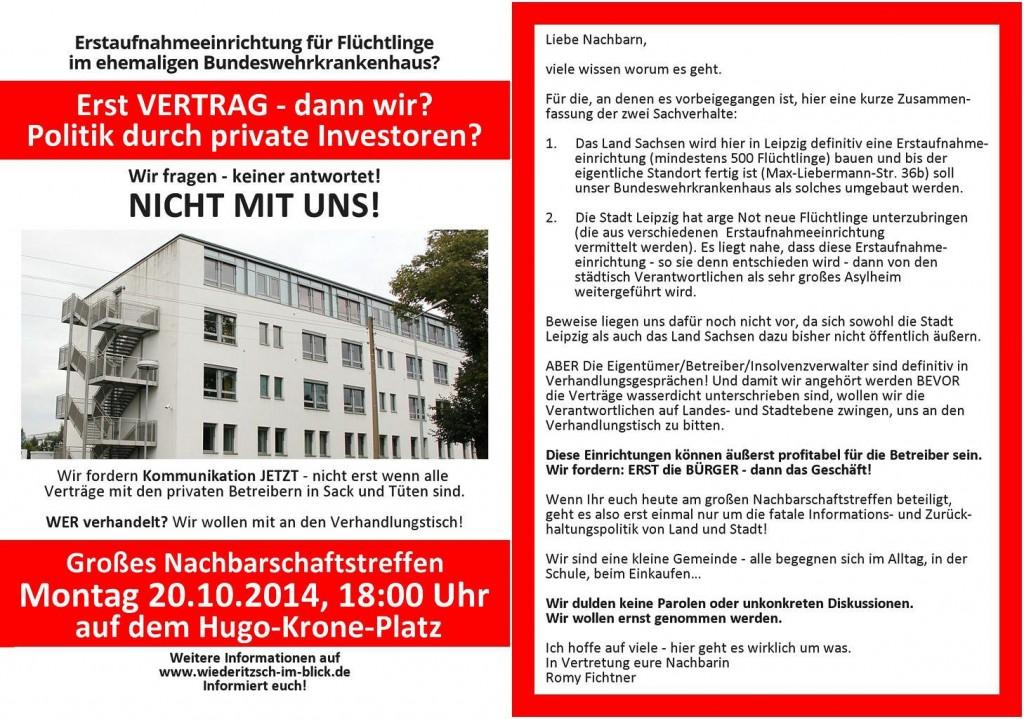 Flyer Versammlung Wiederitzsch 2014-10-20