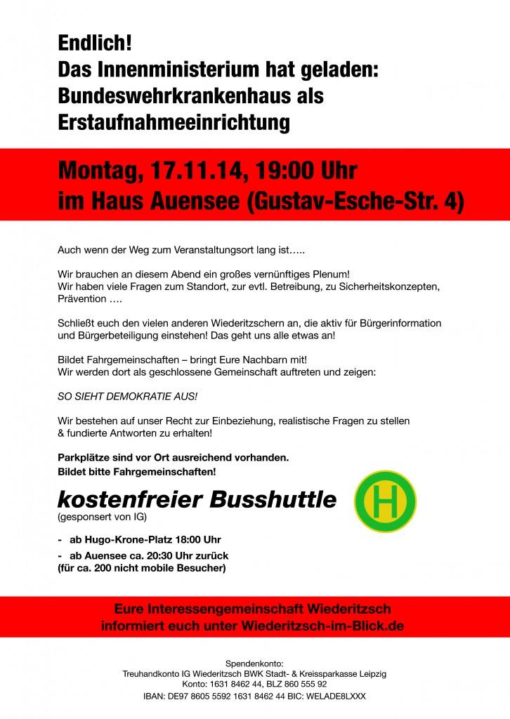 Flyer zur Informationsveranstaltung