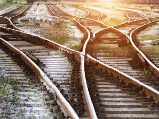Gleisarbeiten in Wiederitzsch