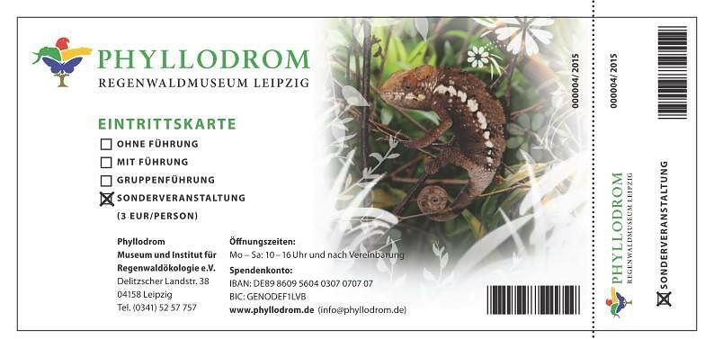 Eintrittskarte Phyllodrom zur Museumsnacht