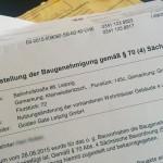 Schreiben vom 03.09.2015 des Amt für Bauordnug und Denkmalpflege an die direkten Anlieger des ehemaligen BWK Wiederitzsch