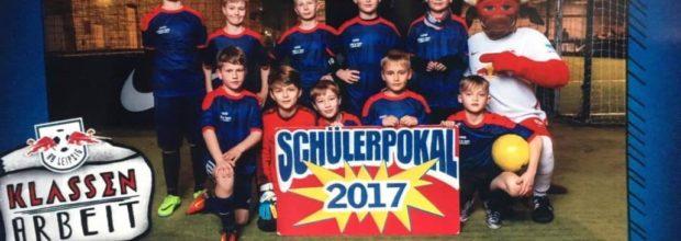 Die Grundschule Wiederitzsch gewinnt beim Schülerpokal der Roten Bullen (2017)