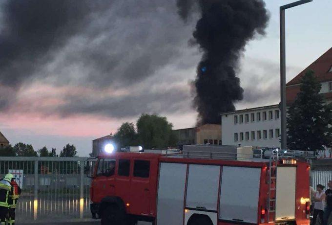 Feuer in der alten Heeresbäckerei | Foto: privat