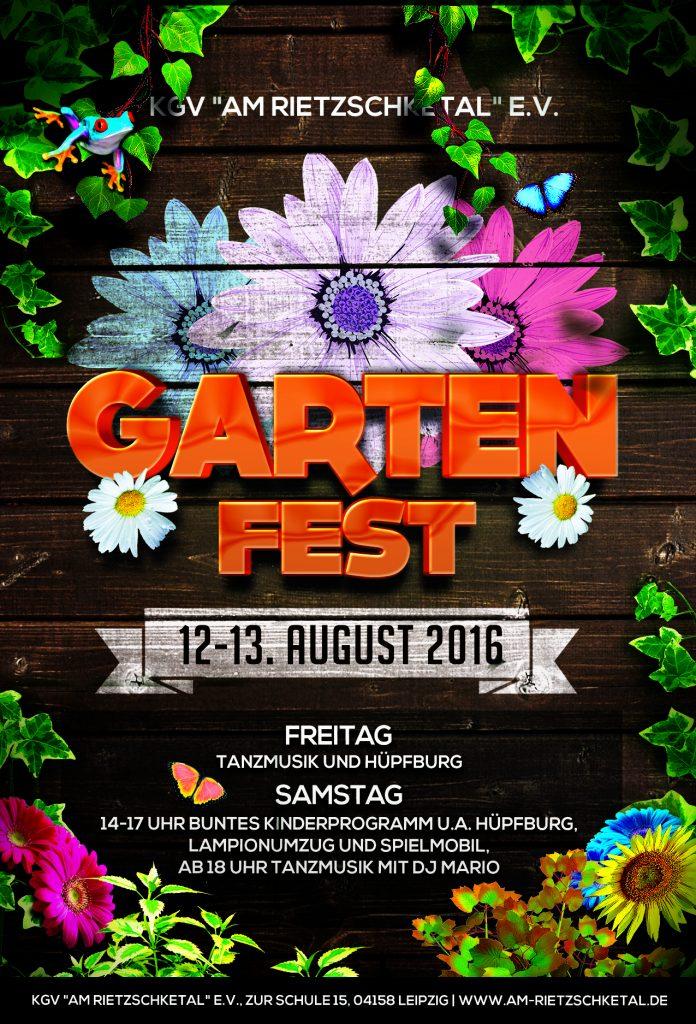 Gartenfest am Rietzschketal - Flyer