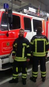 Neue Einsatzbekleidung Freiwillige Feuerwehr Wiederitzsch Foto: Alexander Henze