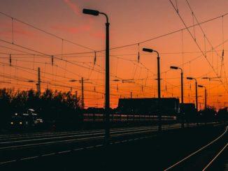 Wiederitzsch Bahnanlagen bei Nacht