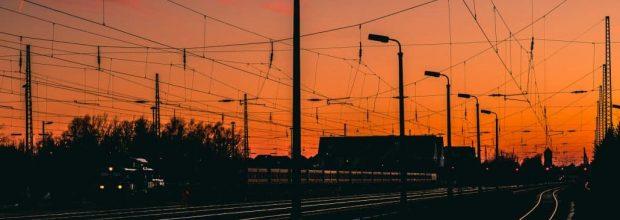 Verlade- und Logistikarbeiten im Bereich des Bahnhofs Wiederitzsch m Oktober 2019