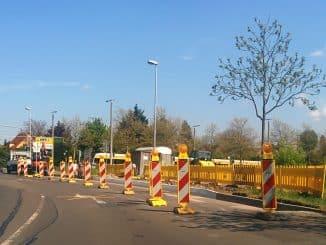 Baustelle Ecke Delitzscher Landstraße/ Südtangente