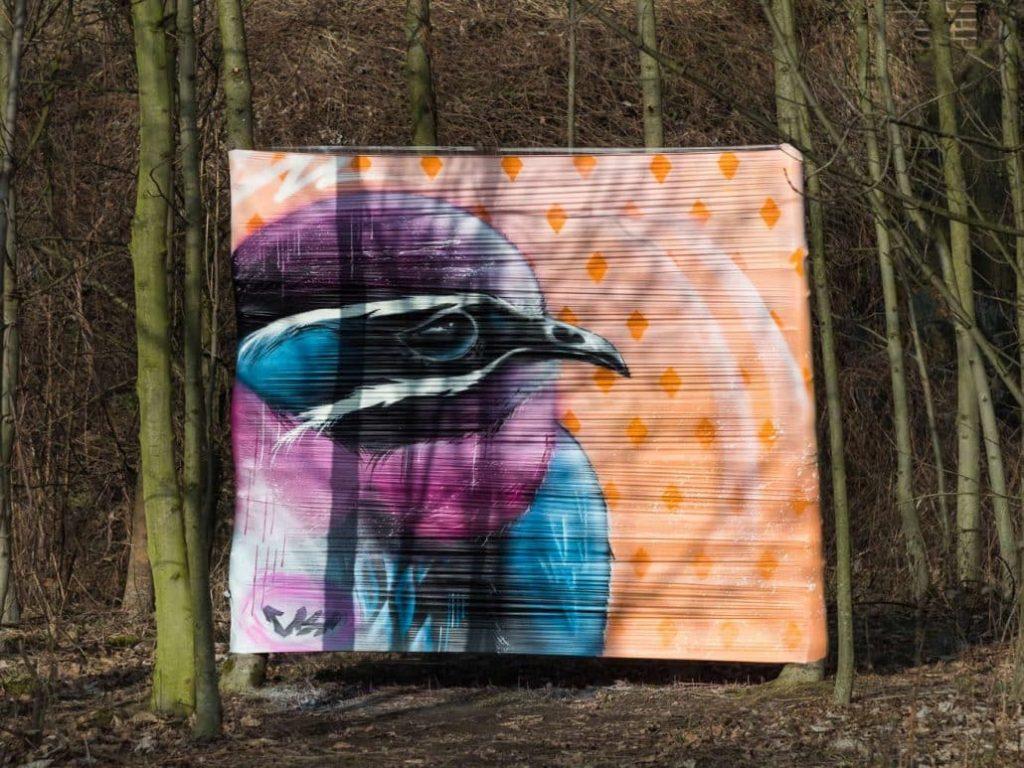Vogelgraffiti in Wiederitzsch