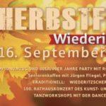 Programm 28. Wiederitzscher Herbstfest – Freitag, 14.09.2018