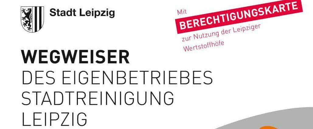 Berechtigungskarte für die Wertstoffhöfe in Leipzig