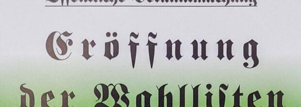 Falsche Wahllisten in Wiederitzsch